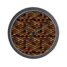 Golden Metal Scales Wall Clock