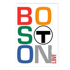Boston Multi T Postcards (Package of 8)