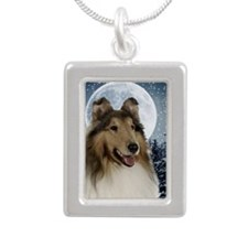 Collie Silver Portrait Necklace