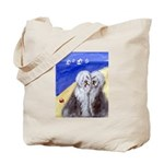 OLD ENGLISH SHEEPDOG day at the beach Tote Bag