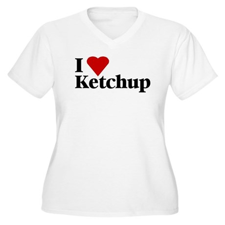 I love ketchup Women's Plus Size V-Neck T-Shirt
