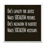 Socialism Tile Coaster