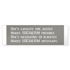 Socialism Bumper Car Sticker