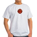 Maltese Cross Red Flame T-Shirt