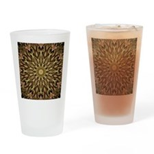 Gold and Copper Mandala Drinking Glass