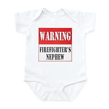 Firefighter Warning-Nephew Infant Bodysuit