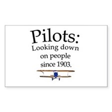Pilots: Looking down on peopl Sticker (Rectangular