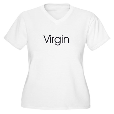 Virgin  Women's Plus Size V-Neck T-Shirt