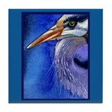 Heron Portrait Tile Coaster