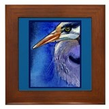 Heron Portrait Framed Tile
