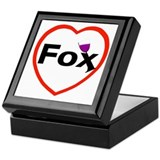 I love Fox Keepsake Box