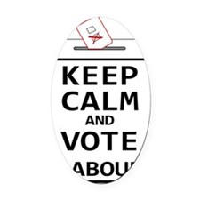 Keep Calm  Vote Labour Oval Car Magnet