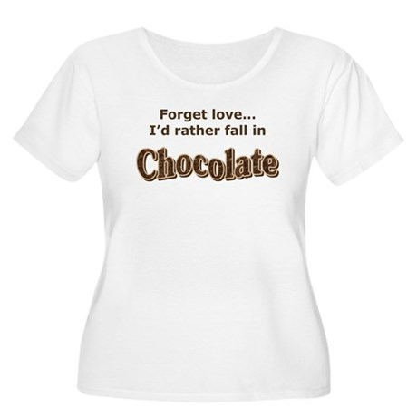 Chocolate lover Women's Plus Size Scoop Neck T-Shi