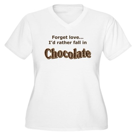 Chocolate lover Women's Plus Size V-Neck T-Shirt