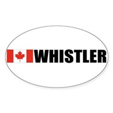 Whistler, British Columbia Oval Stickers