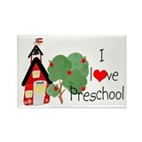 I Love Preschool Rectangle Magnet