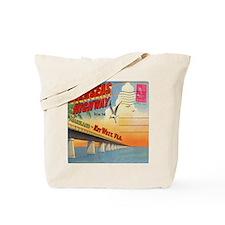 Vintage Key West Florida Postcard Tote Bag
