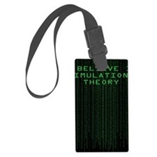 Simulation Theory Luggage Tag