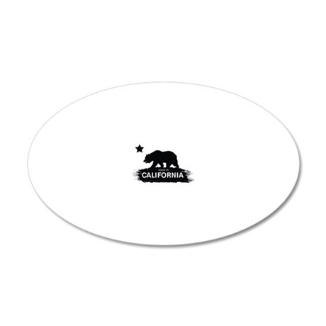 MADE IN CALIFORNIA 20x12 Oval Wall Decal