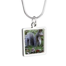 squirrel Silver Square Necklace
