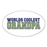 Worlds Coolest Grandpa Oval Decal