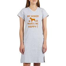 Boxer dog breed designs Women's Nightshirt