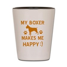 Boxer dog breed designs Shot Glass
