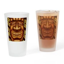 Happy Tiki Print Drinking Glass
