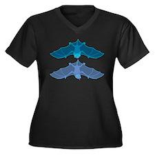 2Bats- Women's Plus Size V-Neck Dark T-Shirt
