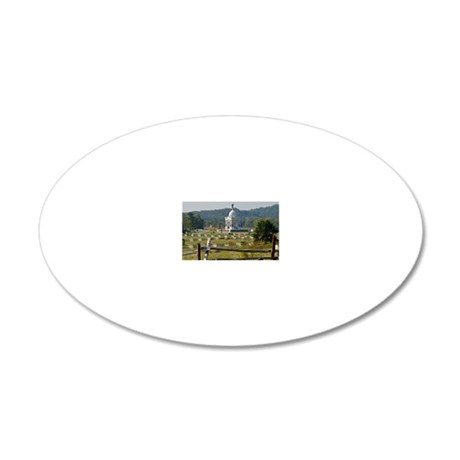 Battle of Gettysburg 20x12 Oval Wall Decal