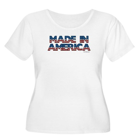 Made in America Women's Plus Size Scoop Neck T-Shi