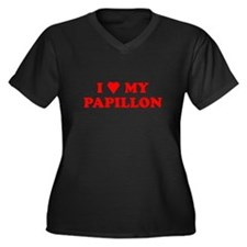 PAPILLION SHIRT PAPILLION T-S Women's Plus Size V-