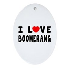 I Love Boomrang Ornament (Oval)