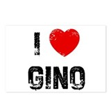 I * Gino Postcards (Package of 8)