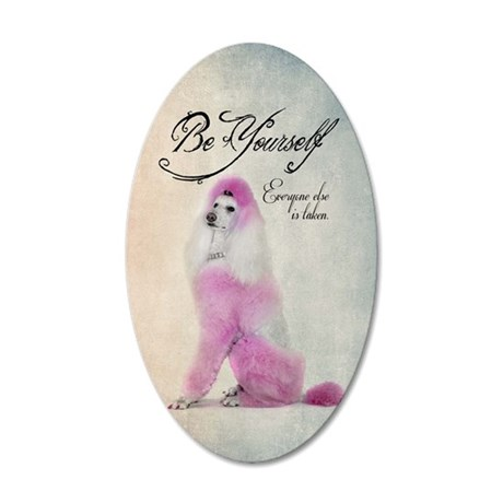 Be Yourself 35x21 Oval Wall Decal