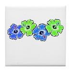 Hibiscus 2 Tile Coaster