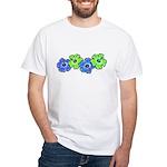 Hibiscus 2 White T-Shirt