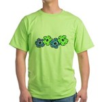 Hibiscus 2 Green T-Shirt