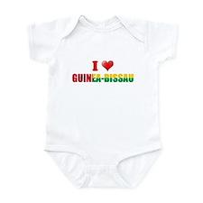 I love Guinea Bissau Infant Bodysuit