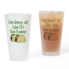 Taco Tuesday On Light Drinking Glass