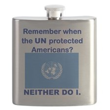 REMEMBER WHEN THE UN PROTECTED AMERICANS Flask