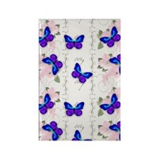 Blue Butterflies Rectangle Magnet
