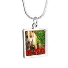 No BSL Silver Square Necklace