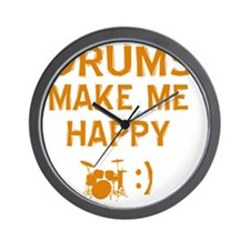 My Drums makes me happy Wall Clock