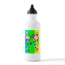 peace love nursing ass Water Bottle