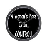 A Woman's Place...  Wall Clock