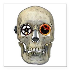 "Gear Head Square Car Magnet 3"" x 3"""