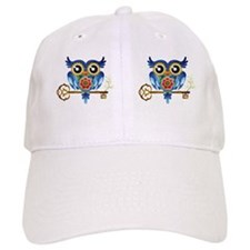 Owl on Skeleton Key Baseball Cap
