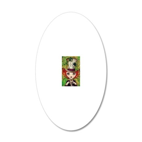 Lady Hatter 20x12 Oval Wall Decal