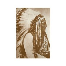 Sitting Bull Teton Sioux Chief Rectangle Magnet